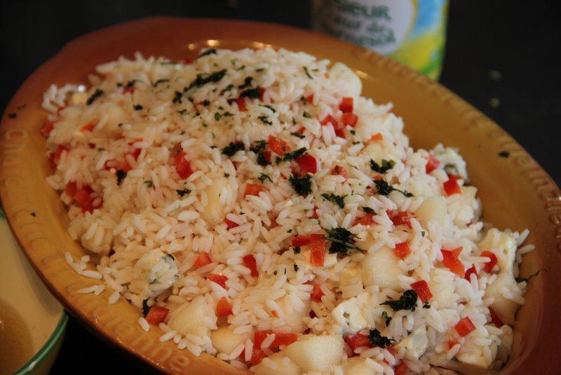 La cuisine de christine salade de riz roquefort poire for La cuisine de christine